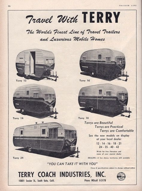 255 Best Images About Vintage Terry Travel Trailers On