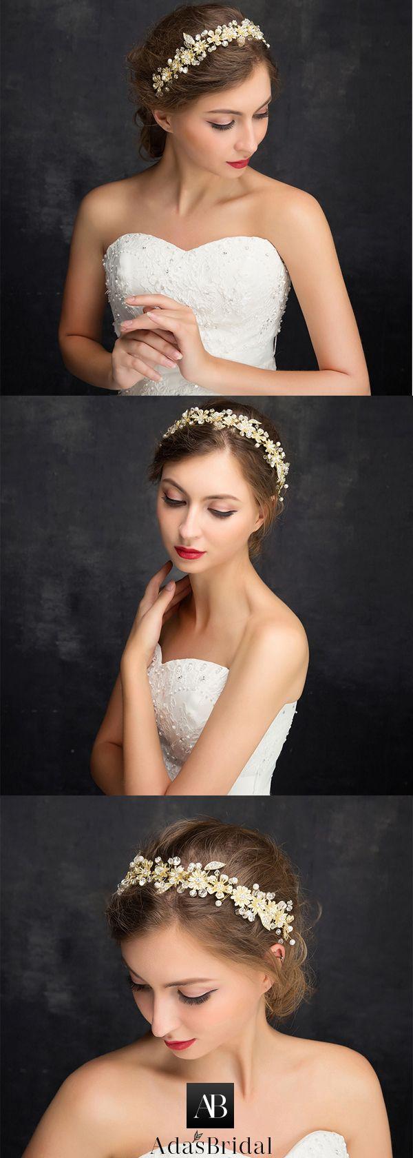 Attractive Alloy Wedding Hair Ornaments With Rhinestones