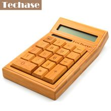 CS19 Techase Calculadora Científica Calculadora Calculadora Solar de Bambu De Madeira 2017 Nova Hesap Makinesi Calculadora Financeira(China)