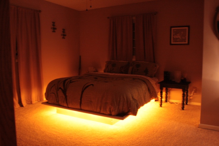 Our Latest Addition To Our Platform Bed Rope Lighting Underneath Cool Pinterest Boys