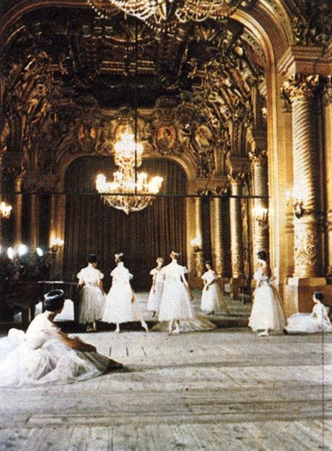 Le Foyer de la Danse    -   famous and prestigious training room of the Opera Garnier  -  http://visitepalaisgarnier.fr/en/foyer-de-la-danse     -