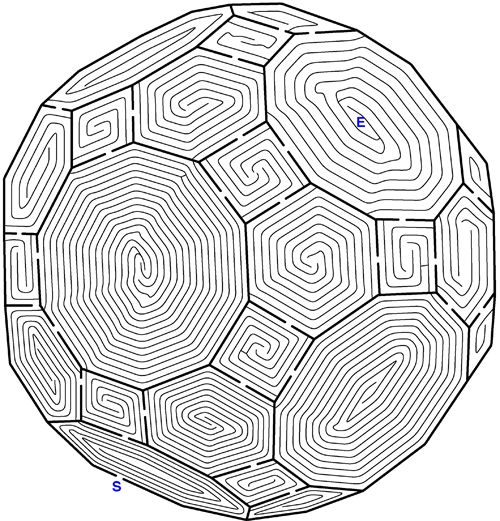 Multi faceted almost spherical maze.  Looks pretty darn hard.