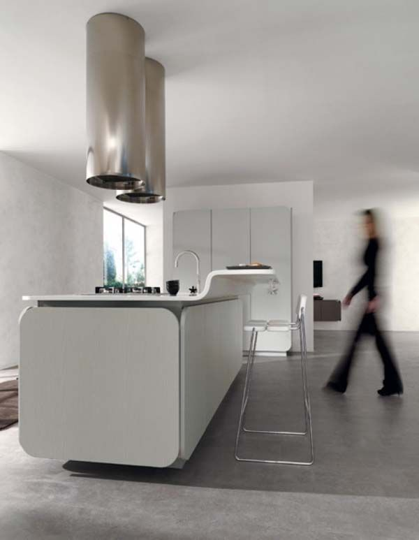 Curved And Balanced Modern Kitchen Design: IT IS Kitchen