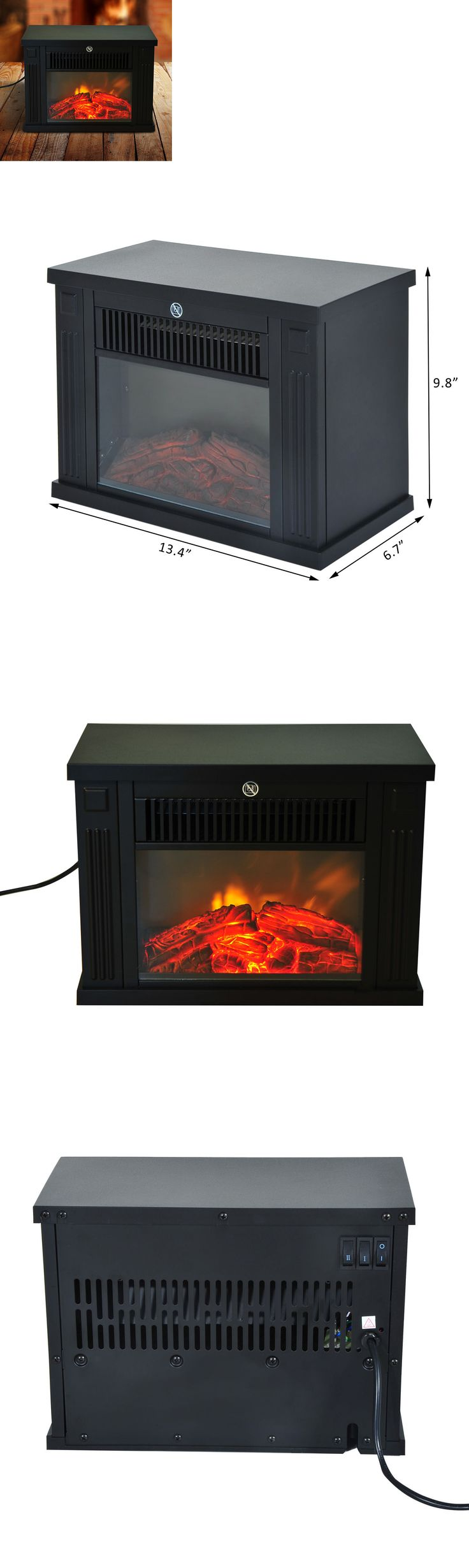 Fireplaces 175756: Portable Electric Fireplace Free Standing Tabletop Heater 1000W Led Fire Flame -> BUY IT NOW ONLY: $36.66 on eBay!