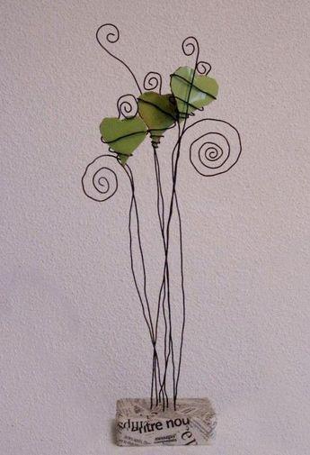 Blog von jeanmichhe: Musik Mosaik und Draht drei grüne Herzen in su #wire #gre