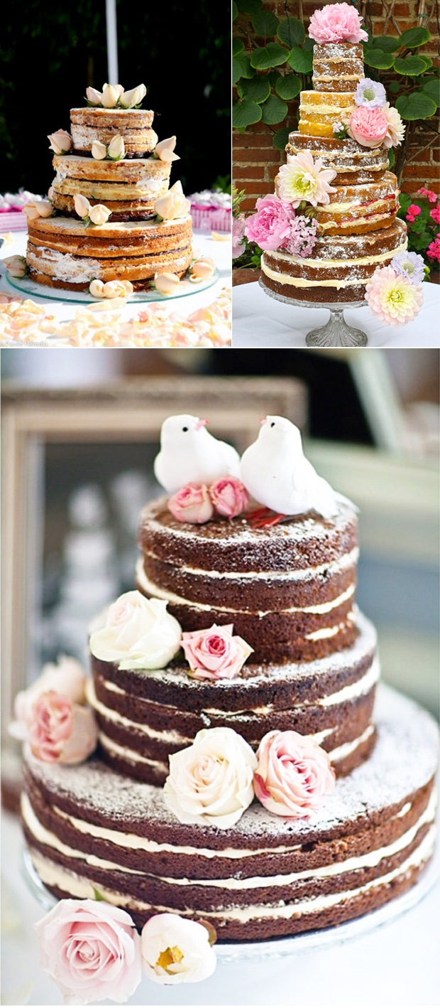 "these cakes convinced me to hop on the ""naked cake"" trend. gotta try some..."