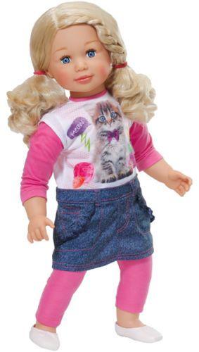 Zapf-Grosse-Puppe-Sally-63-cm-Blond-Maedchenpuppe-mit-Haaren-NEU