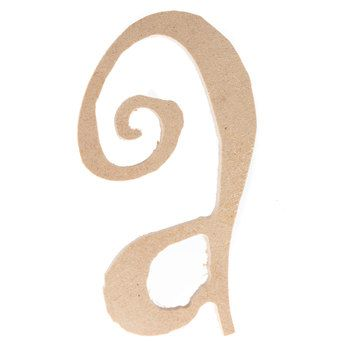 A Curly-Q Lower Case MDF Letter