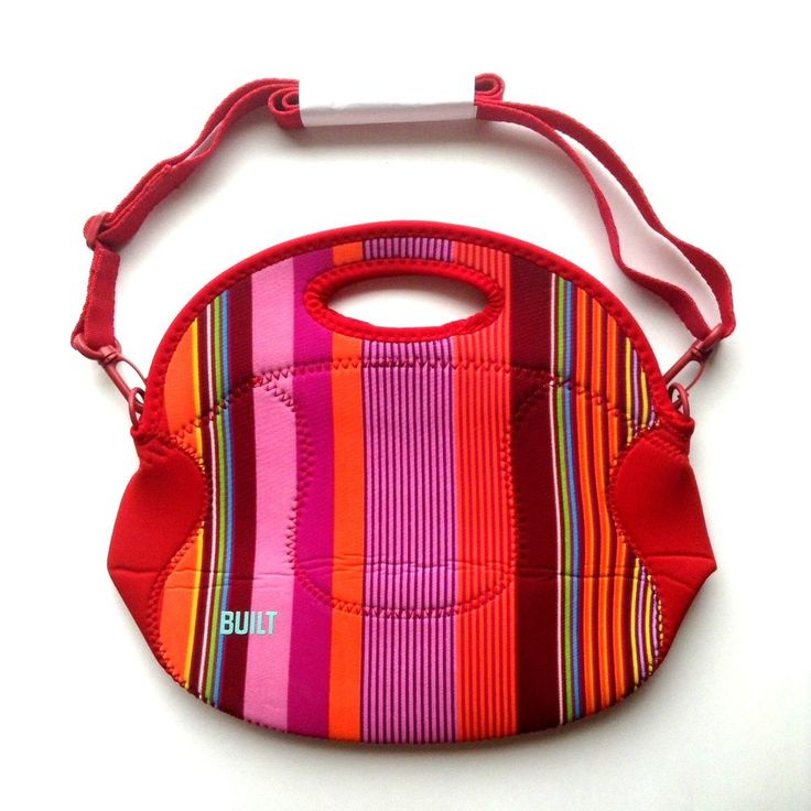 Built Lunch Bag Tote Rare Print Stripes Spicy Relish with Adjustable Straps | Home & Garden, Kitchen, Dining & Bar, Kitchen Storage & Organization | eBay!