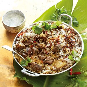 Lamsbriyani - recipe in Afrikaans (Cat: South African food)
