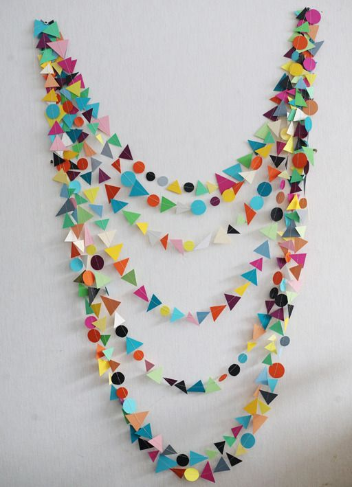 DIY-able geometric garland. Love this for parties!
