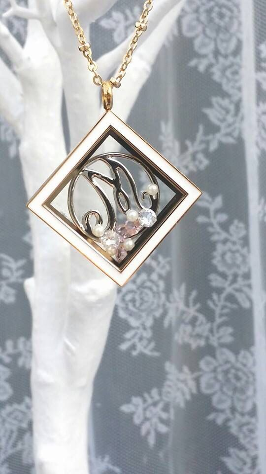 Monogram Locket (PS ... I know that this is NOT Origami Owl ~ I just like the look)
