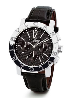 ブルガリ。革ベルトの腕時計 ブランド