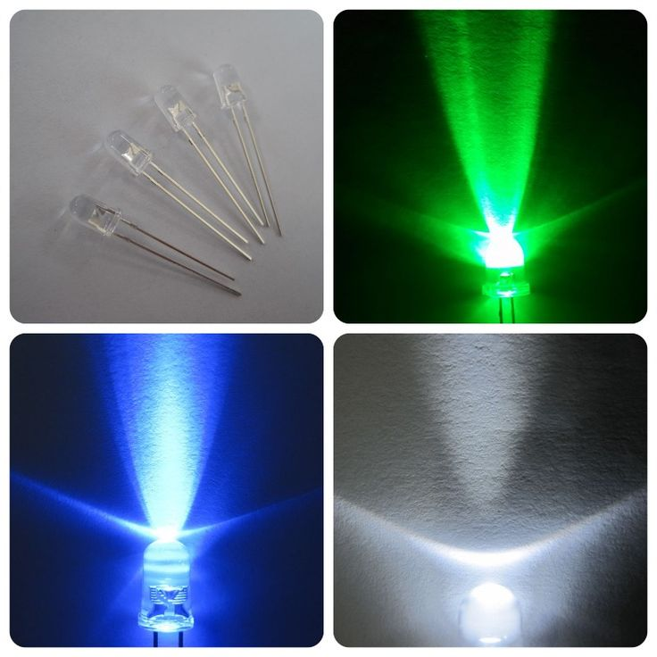 water clear green blue white round 0.06w led 5mm
