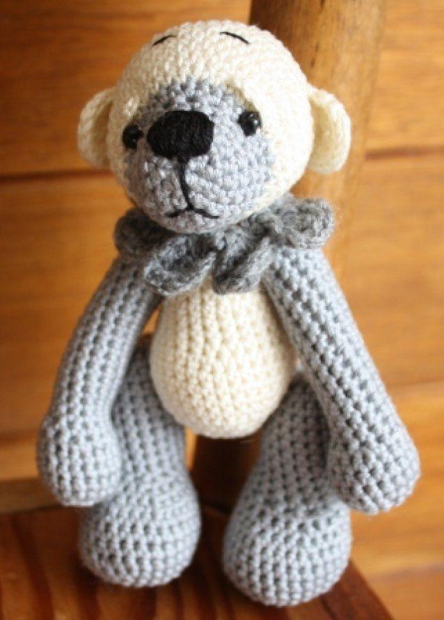 Sooty a mini crochet bear 13.5cm SOLD