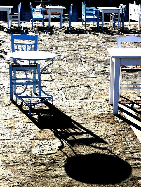 A traditional greek tavern in Naousa, on Paros island