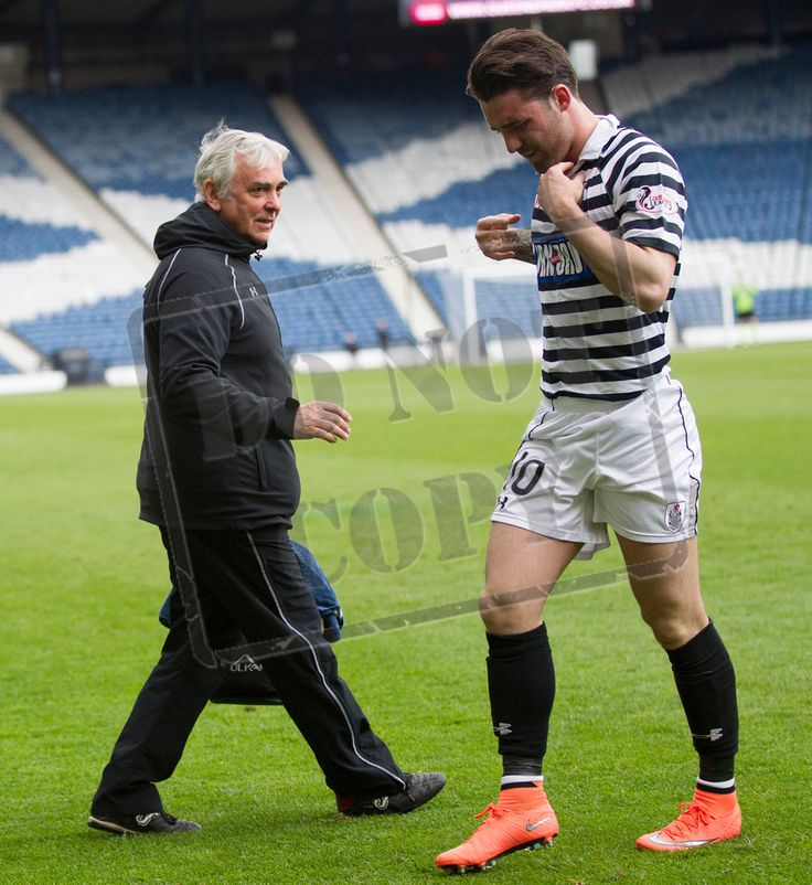 Queen's Park's physio Bob Findlay during the SPFL League Two game between Queen's Park and Clyde.
