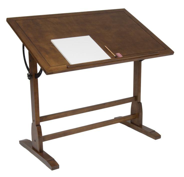 STUDIO DESIGNS 42in Vintage Drafting Table / Rustic Oak 13305