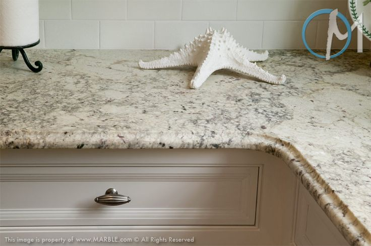 Bianco Romano Granite The Soft Ogee Edge Adds A