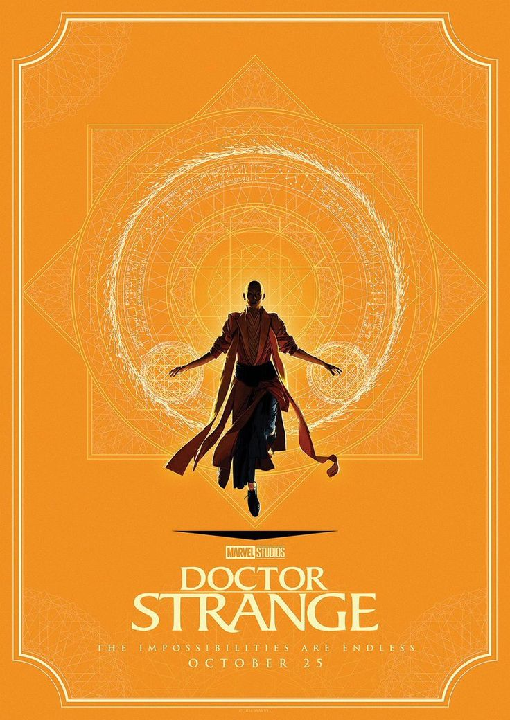 Awesome mandala-esque Doctor Strange posters. Need!