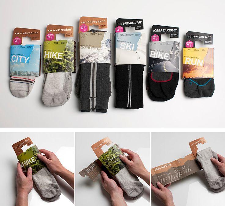 ashortinspiration: Icebreaker Sock Packaging An... | Must be printed