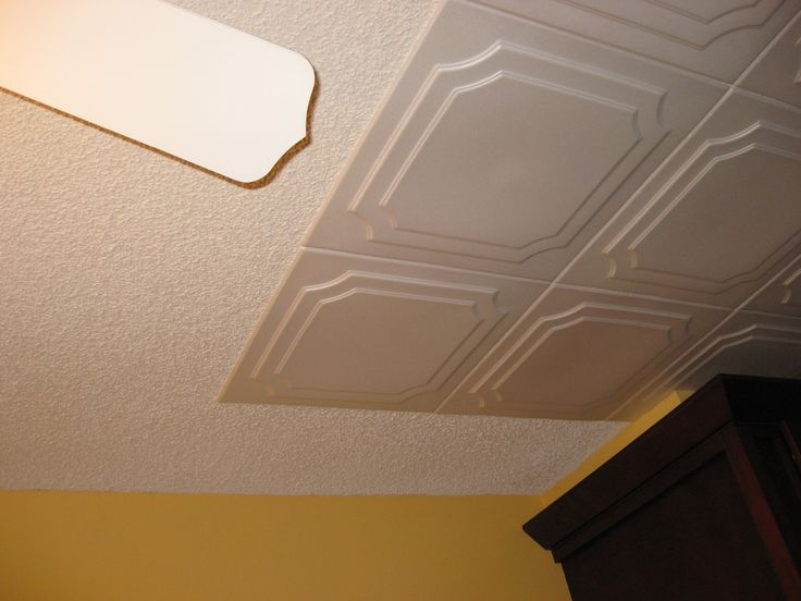 Styrofoam Decorative Ceiling Tiles Glue Over Popcorn