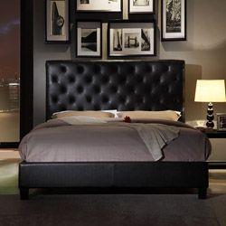 Set includes: One headboard, one footboard, one set of rails, platform slats Materials: Wood frame, polyurethaneFinish: Black      I love this bed!