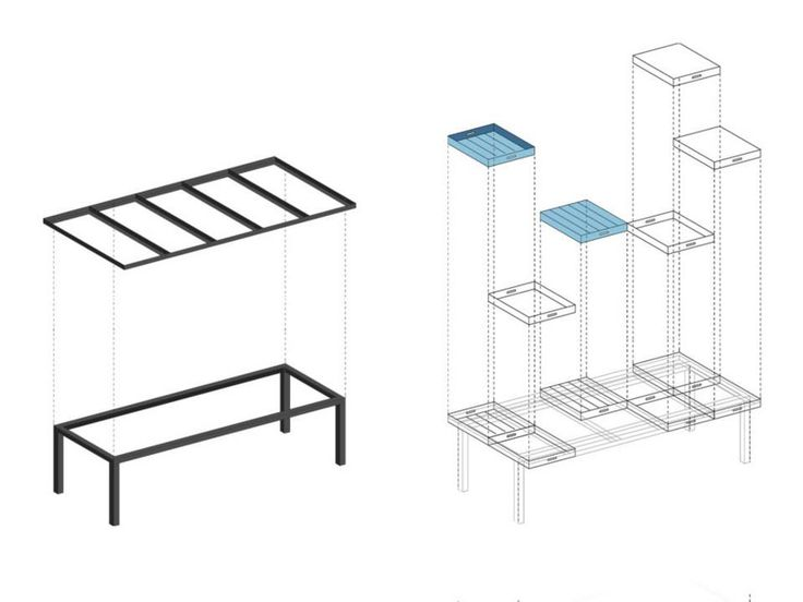 TABLE FOR A CITY / A scheme showing the construction idea.
