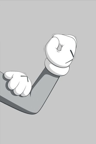 Kaws Iphone Hand Gesture iPhone Wallpapers