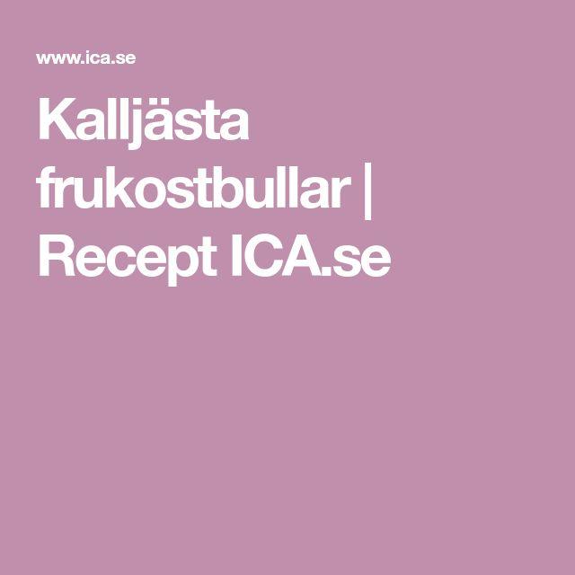 Kalljästa frukostbullar | Recept ICA.se