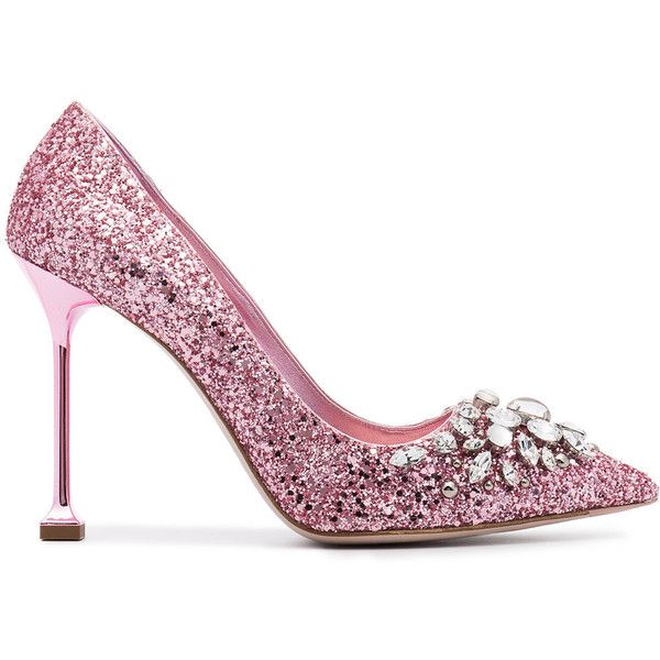 27eaaec2990b Miu Miu Glitter 105 pumps with Swarovski crystal embellishment ...