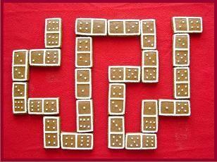 Perníkové domino #perník #domino #jídlo
