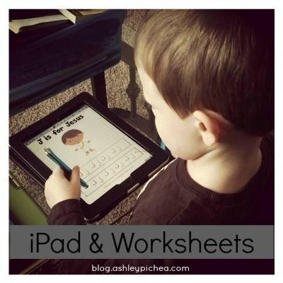 iPad & Worksheets | using your iPad or other tablet device to complete PDF worksheets | homeschool idea | technology for kids | money saving idea
