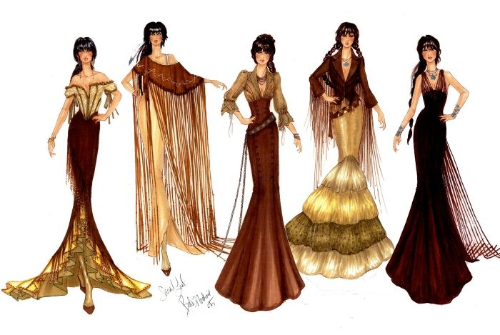 COSTUME & FASHION ILLUSTRATION by Sarah B. Lund at Coroflot.com Bob Mackie Mentor Project