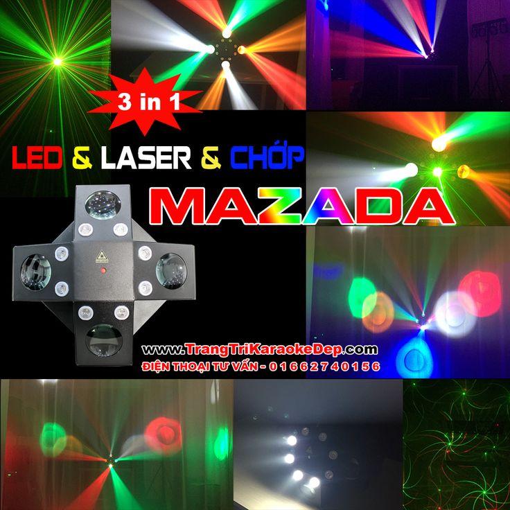 Đèn LED Vũ Trường Mazada 3 Hiệu Ứng Trong 1