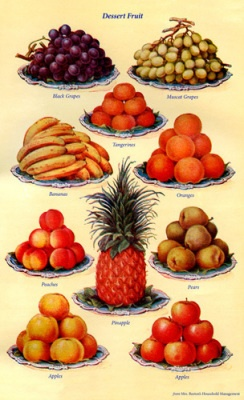 Dessert Fruit  Artist: Mrs Beeton