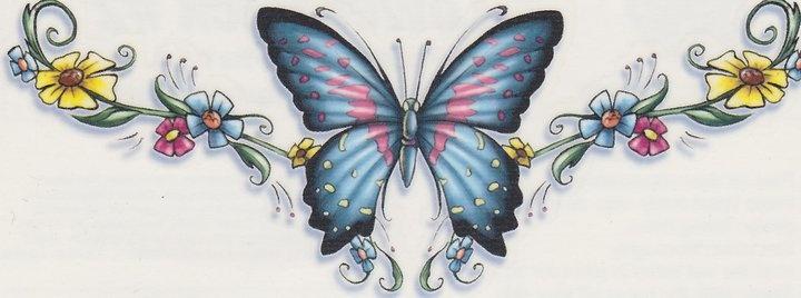 lower back butterfly tattoo | Tattoo | Pinterest ...