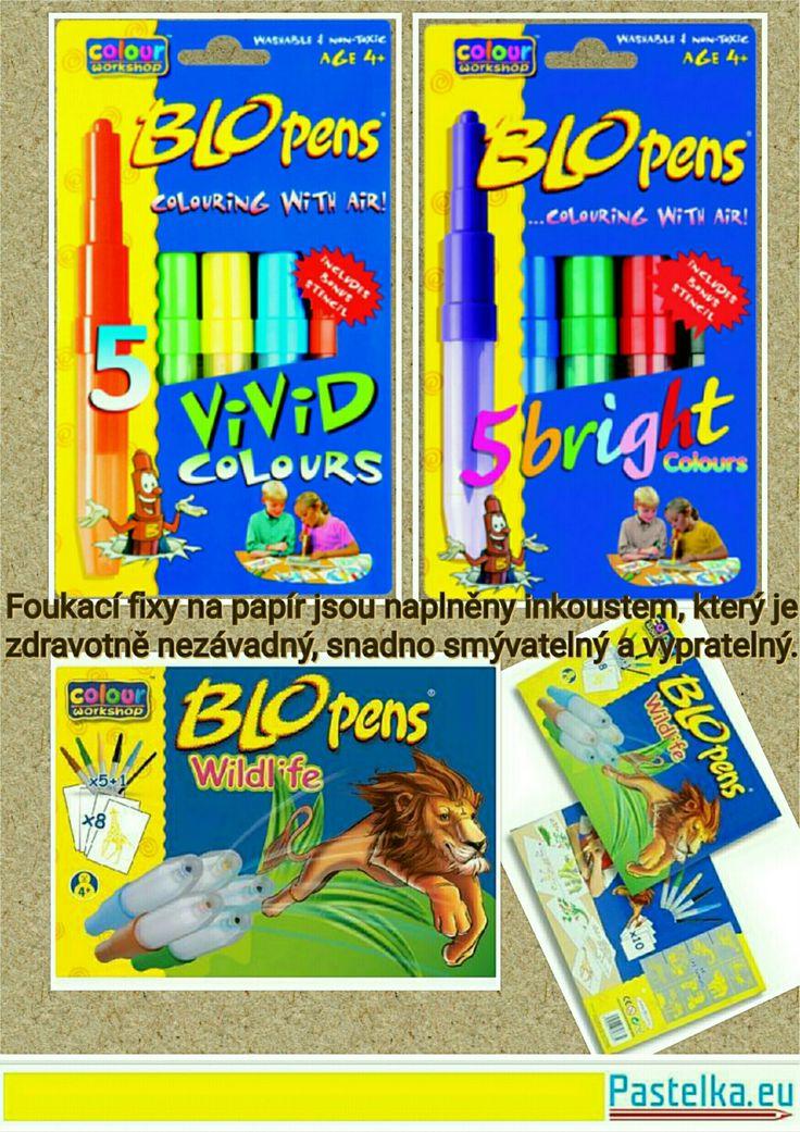 Úžasná zábava pro děti...foukací fixy. #fixy #malovani #deti #tvoreni #barvy #painting #childern #formation #colors