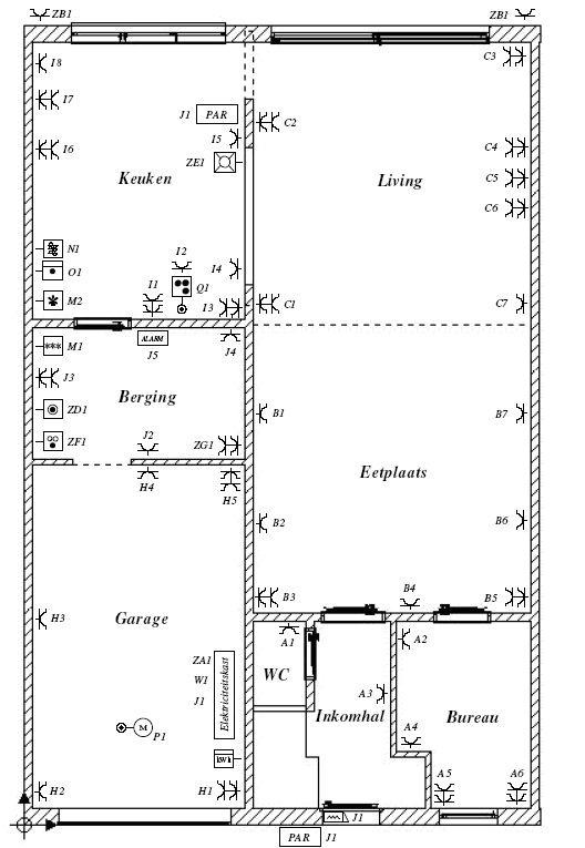 een extra stopcontact plaatsen - plaatsbepaling van het stopcontact