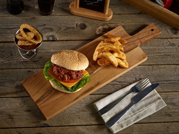50x15x2cm Acacia Wood Paddle Board, ideal as a steak or burger board! http://www.mklimited.com/restaurant-banqueting/food-service-items/wooden-serving-steak-boards/50x15x2cm-acacia-wood-paddle-board-x6-detail.html
