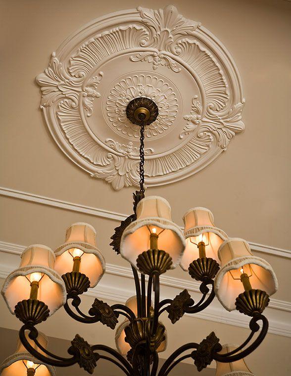 Medallion Chandelier: Large ceiling medallion and chandelier - â?¥,Lighting
