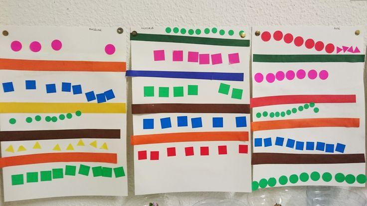 alignement PS: collage bandes + lignes de gommettes