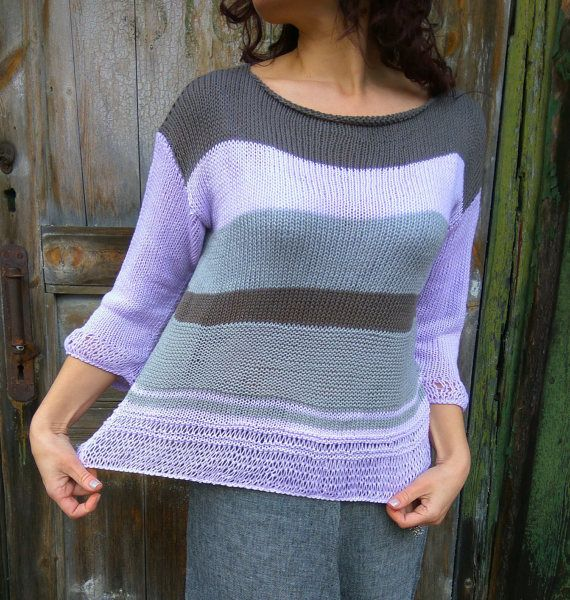 Check out this item in my Etsy shop https://www.etsy.com/ru/listing/501592704/ready-lilac-grey-brown-pullover-handknit