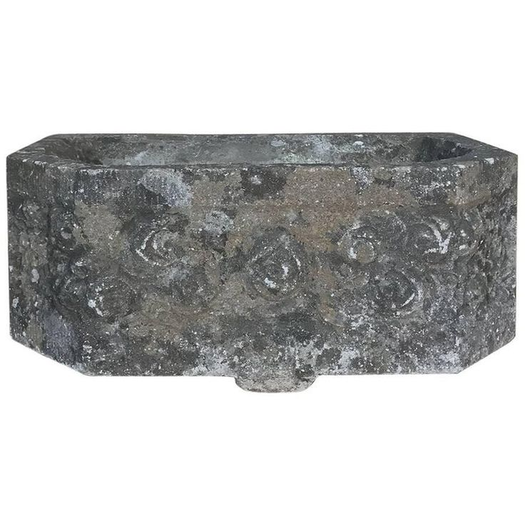 1stdibs Planter / Jardiniere – Carved Jardinière Fountain Basin French Art Deco Stone