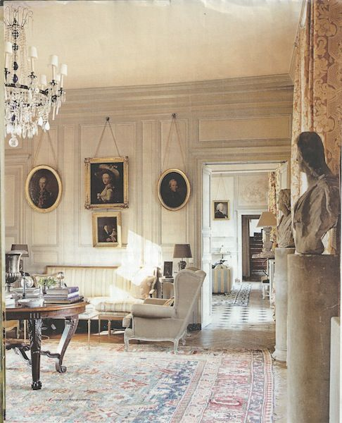French Chateau Style Decor Indoor Furniture Hall Interior Design