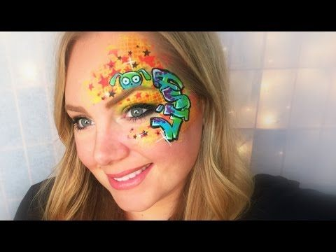 Graffiti eye face painting and makeup youtube face for Face paints supplies