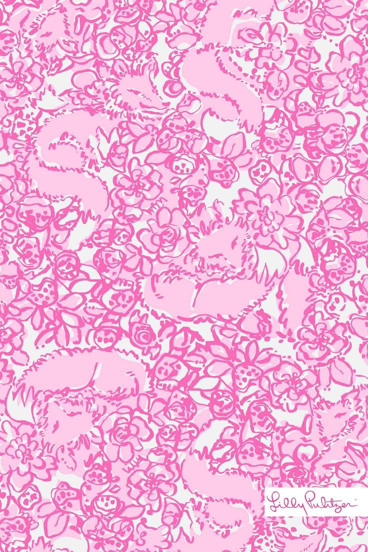 Lilly Pulitzer She's a Fox iphone wallpaper