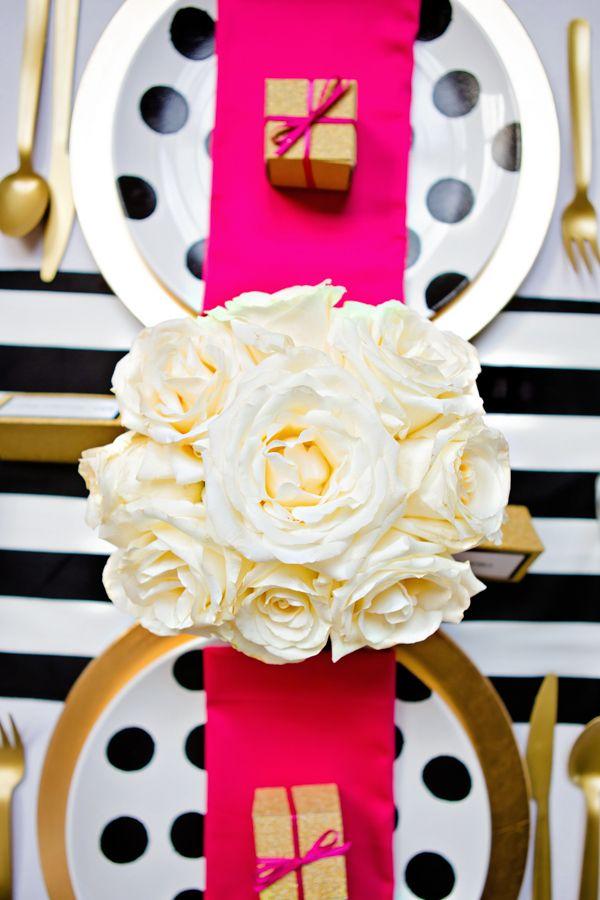 Black. gold. pink. Confetti Co. Weddings.