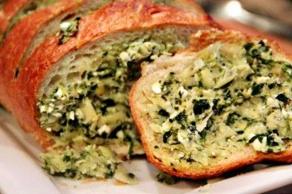 Artichoke feta garlic bread from the Tasty Kitchen Blog.  Can't wait to try this!