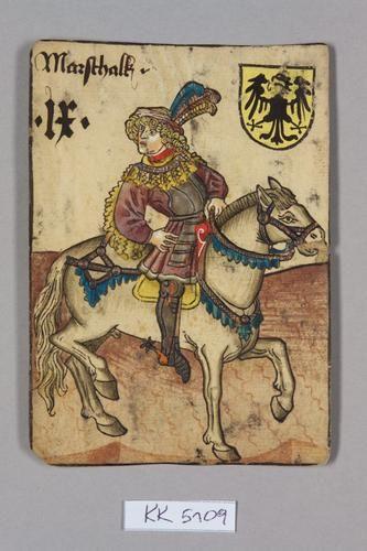 """Marschall [maréchal?], Deutschland aus dem """"Hofämterspiel"""" für König Ladislaus """"Postumus"""" (?)"""